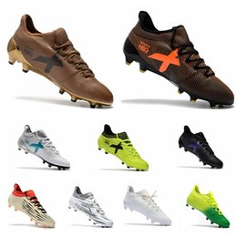 Wholesale Messi Cleats White - 2017 Mens original soccer cleats x 17.1 outdoor soccer shoes X 16.1 FG AG football boots cheap messi cleats X 16 soccer boots Blue grey