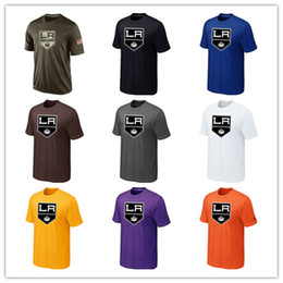 Wholesale Men Cheap T Shirts - Popular NHL Los Angeles Kings T-Shirts 2017 Hockey Jerseys Cheap Tshirts LA Kings Salute To Service Camouflage Mens Shirts White Black