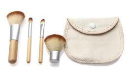 Wholesale Women Make Up Gift Set - 2016 new Makeup Brushes Women 4pcs set Hot Selling New Natural BAMBOO Makeup Brush Set Make Up Brushes Tools With Bag chrismat gift free DHL