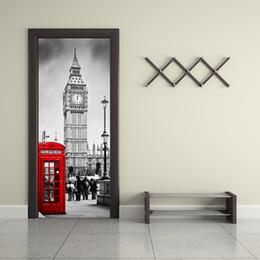 Magnificent Panther Black//White Door Decal 200x90cm Door Mural Door Sticker