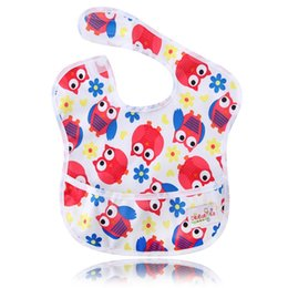 Wholesale Baby Boy Burp Clothes - Ohbabyka Baby Girl Boy Waterproof Superbib Baberos Bebes Kids Feeding and Eating Bibs with Pocket Adjustable Burp Clothes 10PCS