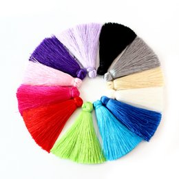Wholesale Tassel Bead Earrings - lot Mixed Small Cotton Satin Silk Tassels Fringe 60mm for Earrings Pendant Necklace DIY Jewelry Making Findings Materials. 30pcs\