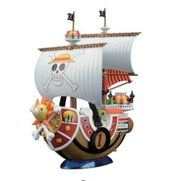 Wholesale Pirates Props - 20cm One Piece Sonny Thousand Sunny Pirate Ship Model PVC + ABS Assembled Decoration Collection Action Figures Gift With Box
