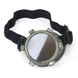Wholesale Gothic Men Costume - Wholesale- Hot Safety goggles Vintage Steampunk goggles cyclops goggles Gothic Cosplay Costume for the left eye (Bronze)