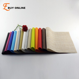 Wholesale Table Runners Europe - Wholesale- Set of 2 PVC Vinyl Placemats for Dining Table Runner Linen Place Mat in Kitchen Accessories Cup Wine Mat Coaster Pad