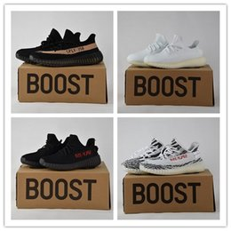 Wholesale Camping Earth - [With Box] mix 15 color ,Dark green,earth tan mesh v2 blade Shoes 36-48 V2 Boost 350 Kanye West Running Shoes size 36-46