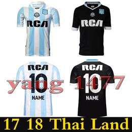 Wholesale Racing Shirts - 2017 2018 Top Thai quality Argentina Racing Club de Avellaneda jersey Home away MILITO LISANDRO NAME Racing football Shirt