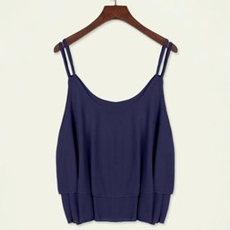 Wholesale Rising Clothing - Summer Tanks Camis Sexy Strap Tops Chiffon Sleeveless Shirts Vest Camis Black Rose Purple White Tees sun-top Women Clothing Apparel 6 Colors