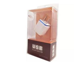 Canada Mur Chargeur 2.1A couleur métal anneau Chargeur Murale nous Branchez Double USB AC Adaptateur Secteur 2 ports pour Samsung iphone avec boîte de détail Offre