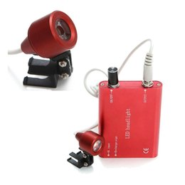 Wholesale Dental Light Lamp - LED Light Wholesale-Portable red LED Head Light Lamp for Dental Surgical Medical Binocular Loupe Head Lamp