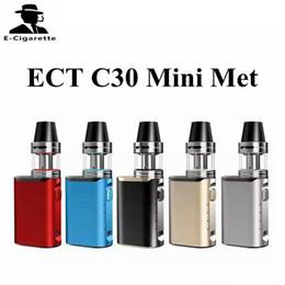 Wholesale e cigarette mini starter kit - ECT C30 Mini Met with 2ml Kenjoy Met Atomizer 1200mAh ECT C30mini Battery E cigarette Starter Kit