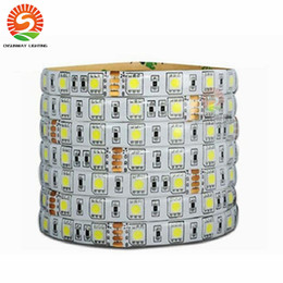 Wholesale Wire Ribbon Led Lights - 24V IP65 Waterproof LED Strip 5050 300led Lighting flexible Light stripe Led Tape Luces Ribbon Warm White Cool White RGB