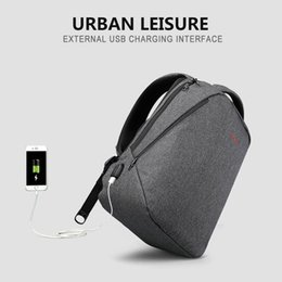 "Wholesale Trunk Usb - B011H 2017 New Design men backpack anti-theft External USB charge port for 14"" 17"" laptop backpack school backpack bag"