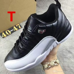Wholesale Purple Wing Shoes - Wholesale Retro 12s XII 12 THE MASTER BLACK GOLD Basketball Shoes Sports Shoe Mens women Athletics White OVO Wings French blue women Sneaker