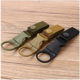 Wholesale Tactical Belt Webbing - AAAAA New Outdoor Tactical Nylon Webbing Buckle Hook Water Bottle Holder Clip EDC Climb Carabiner Belt Backpack Hanger Camp