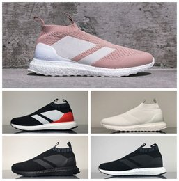 Wholesale Solar Red - KITH x Ace 16+ PureControl Ultra Boost Triple Black White Solar Yellow Women Men Running Shoes Sneakers Originals UltraBoost Runner With Box
