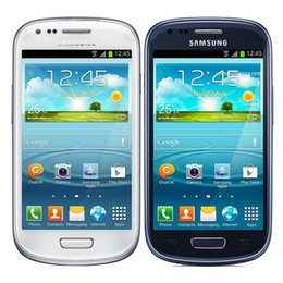 Wholesale S3 Mobiles - Original Refurbished Unlocked Samsung Galaxy S3 Mini i8190 4.0 inch 1GB RAM 8GB ROM Dual Core 5.0MP WiFi WCDMA 3G Mobile phone DHL 1pcs