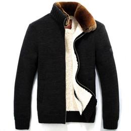 Wholesale Large Mens Coats Jacket - Wholesale- TOP Quality Brand Down Parka Men Rex Rabbit Fur Coat Winter Coat Men Warm Fleece Mens Jackets And Coats,Large Size,Manteau Tomme
