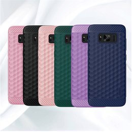 Wholesale Pink Carbon Fiber - For Samsung S8 Case Carbon Fiber Soft TPU Back Cover Phone Cases for Samsung Galaxy S8 S8 plus