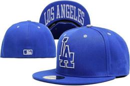Wholesale Cream Team - 2018 LA best quality sport team caps flat brim two tone full closed design camo black baseball men women hats