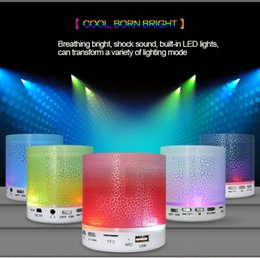 Wholesale Mobile Phone Models Colors - 2016 new model A8 Flash dazzle light colors bluetooth speakers for outdoor mini speakers player with Hi-fi sounds