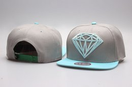 Wholesale Worn Baseball Cap - snapback grey blue Diamond Supply Co. classic Snap back Hats street hats baseball caps Are The Most Of Head Wear Now YP_5092