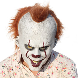 Wholesale Clown Cosplay - 2017 Movie Stephen King's It Mask Joker Pennywise Mask Horror Clown Latex Mask Cosplay Halloween Party Horrible Masks