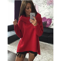 Wholesale New Arrival Women Scarf - S-XL Christmas Clothes New Arrival Women Winter Hoodies Irregular Scarf Collar Long Sleeve Fashion Casual Style Autumn Sweatshirts