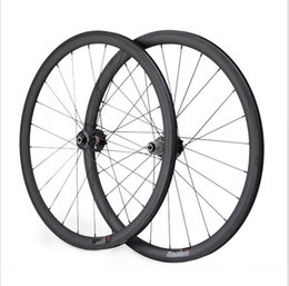 Wholesale Novatec Hub Road - Full Carbon Bicycle Wheels Front or Rear 700C Road Bike Wheels Light Weight 3K UD Glossy Matt Surface Novatec Hub EMS Shipping