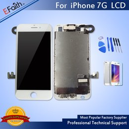Wholesale Iphone Screen Replacement Home Button - For iPhone 7 White Display LCD With Touch Screen Digitizer Replacement With Home Button + Camera & Free Shipping