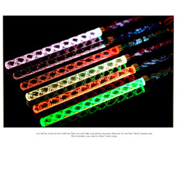 Wholesale Cheer Tops - Wholesale- 30units lot 2016 New Concert Party LED color changing stick with screw thread Glow Flashing top quality cheering carnival toy