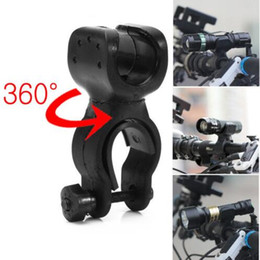 Wholesale Rotation Torch Clip - Easy Rotation Swivel Bicycle Mount Road Bike Headlight Flashlight Torch Head Light Lamp Holder Bracket Clamp Clip Grip Black
