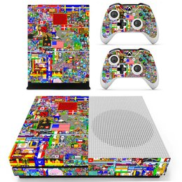 Wholesale Xbox Vinyl Decals - Graffiti Skin Skins Sticker Protective film Decal Vinyl For Xbox one S Console and 2 Controller Stickers DHL FEDEX FREE SHIPPING