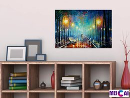 Wholesale Realistic Oil Painting - Free shipping,leonid afremov,Landscape,nature,Art,HOME WALL Decor Prints Realistic Oil Painting Printed On Canvas -1264