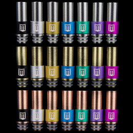 Wholesale Dripping Logo - M Letter Logo Drip Tip Stainless steel Bronze Copper 510 Penny Drip Tips Metal Mouthpiece Driptips fo RDA Atomizer E Cigarette DHL Free