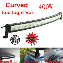 "Wholesale led light kits for boats - 52"" 400W Led Light Bar Curved Combo Beam Work Light For Offroad Truck Jeep Boat Trailer 4x4 ATV SUV 10-30V Auto Lamp (without Wiring Kit)"