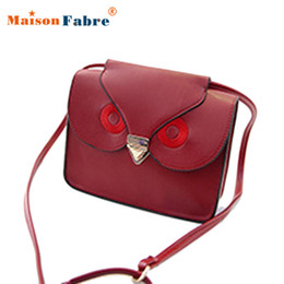 Wholesale Satchel Bags Owl - Wholesale-Best Deal Fashion New Women Owl Print Satchel Messenger Bag Shoulder Bag Handbag Cross Body Purse Gift 1PC