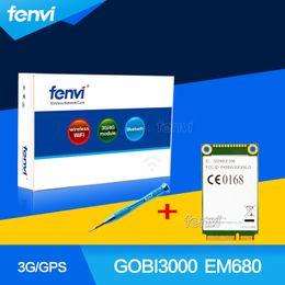 Wholesale Gsm Modules Wholesale - Wholesale- Unlocked Huawei GOBI3000 EM680 Wireless 3G WWAN PCI-E Mini Card GPS EVDO HSPA+ GSM GPRS EDGE Mini PCI Express Module For Windows