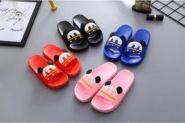 Wholesale Cute Shoes For Toddler Girls - 2017 summer fashion slippers designer toddler girls shoes for children bath kids indoor Non-slip house family cute flip flops