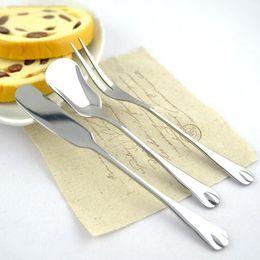 Wholesale Butter Spoon - Stainless Steel Flatware Butter Knife Dessert Jam Spoon Fruit Fork Breakfast Knifes Cutlery Kitchen Accessories JST11
