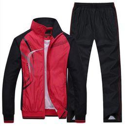 Wholesale Menswear Jacket - Menswear Men's Sportswear Outdoors Tracksuits Jackets + Pants 2Pcs Casual Exercise SportSuit Mens Hoodies and Sweatshirt Set 5XL