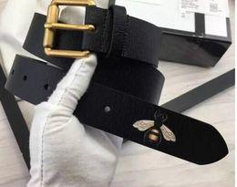 Canada Chaude couleur noire De luxe Haute Qualité Designer Ceintures De Mode abeille motif animal boucle ceinture ceinture mens femmes ceinture ceinture pour cadeau Offre