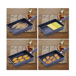 Wholesale Use Grill - Rectangle Frying Pan Flat Mini Non Stick Cookware Used For Jade Zi Burning Steak Pans Of Omelet Kitchen Things 32gp A