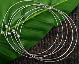 Envío gratis 10 unids / lote plata chapado gargantillas collar cable para DIY Craft regalo de la joyería 16 pulgadas W22 * desde fabricantes
