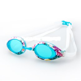 Wholesale Girls Swim Goggles - Professional Anti Fog UV Swimming Goggles Coating Swim Glasses Waterproof Shivering Swim Eyewear Junior Kids Child Swim