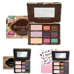 Wholesale Face Popping - Factory Direct Carton Sugar Pop Sweet Peach Totally Cute Eyeshadow Cat Eyes Eye shadow 9 Colors Palettes Face Cosmestics Shadow Leopard DHL