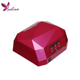 Wholesale Green Machine Parts - machine tool part Suelina Nail Dryer&FREE SHIPPING With Retail Box !36W LED CCFL Nail Dryer Light Dimond Shape UV Lamps Drying