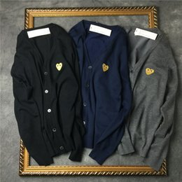 Wholesale Men S V Neck Cardigan - 2017 New Fashion Casual V-neck sweater for men and women couple love sweater bottoming shirt