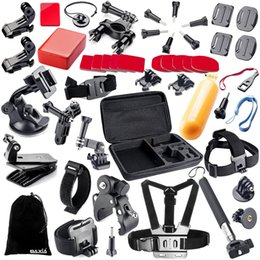 Wholesale Equipment For Camera - 44 In 1 Accessories for Sports Camera Set. High Quality Outdoor Travel Sports Photography Equipment Set.