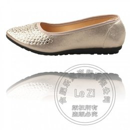 Wholesale Glass Slipper Flat Shoes - Soft Leather Solid Shoes Woman Diamond China Shoes Glass Slipper Designer Shoes Pastoral Bespoke Flat Toe Cotton Fabric